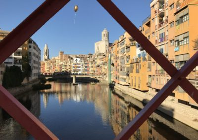 On the bridge in Girona