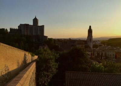 Girona walking tour – setting sun