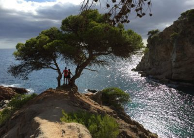 Taking time out on the Costa Brava Trail Adventure